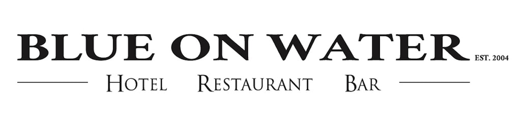 Blueonwater horizontal logo black