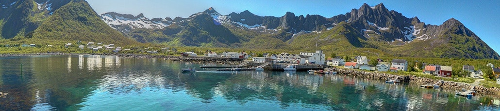 Mefjord brygge view from molo